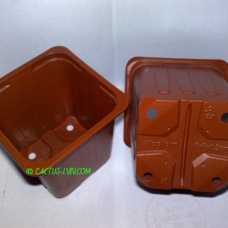 Горщики квадратні (100 шт.) для кактусів Modiform 7x7x6.5