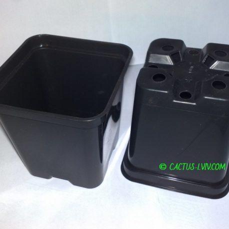Горщики квадратні (10 шт.) для кактусів MZ Forma KW 9x9x10